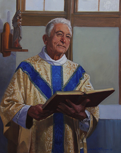 Portrait of Father Francis in the chapel