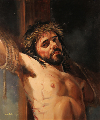 Jesus on the Cross painting by David Goatley