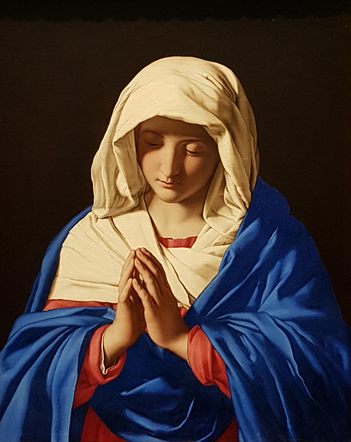 Sassoferato's Madonna in The National Gallery, London