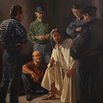 Thumbnail of painting showing Christ with group of working men