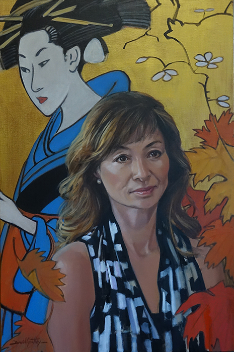 Painting of Japanese woman