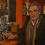 Portrait of man in pub