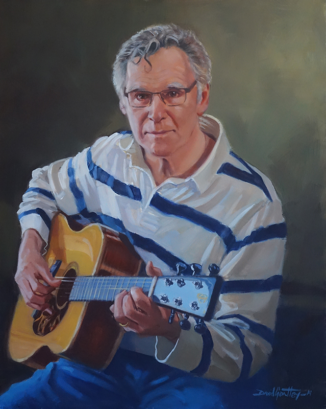 Portrait of man with guitar