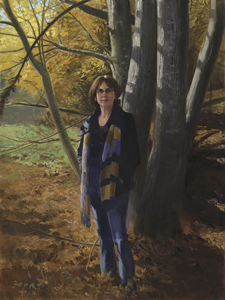Portrait of woman in autumn